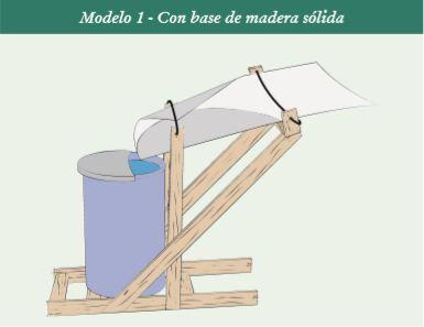 Cosechador casero de agua de lluvia  . Modelo 1.