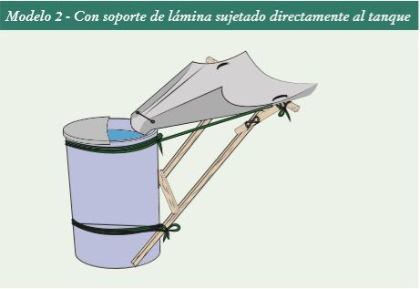 Cosechador casero de agua de lluvia  . Modelo 2.