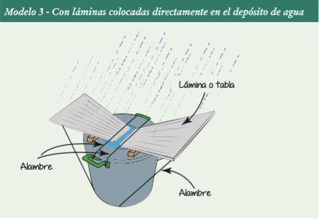 Cosechador casero de agua de lluvia  . Modelo 3.