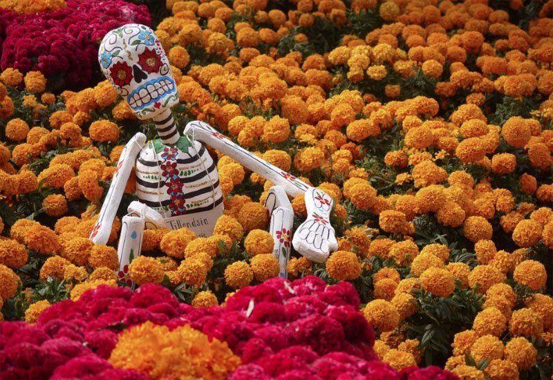 Fiesta de los muertos en México