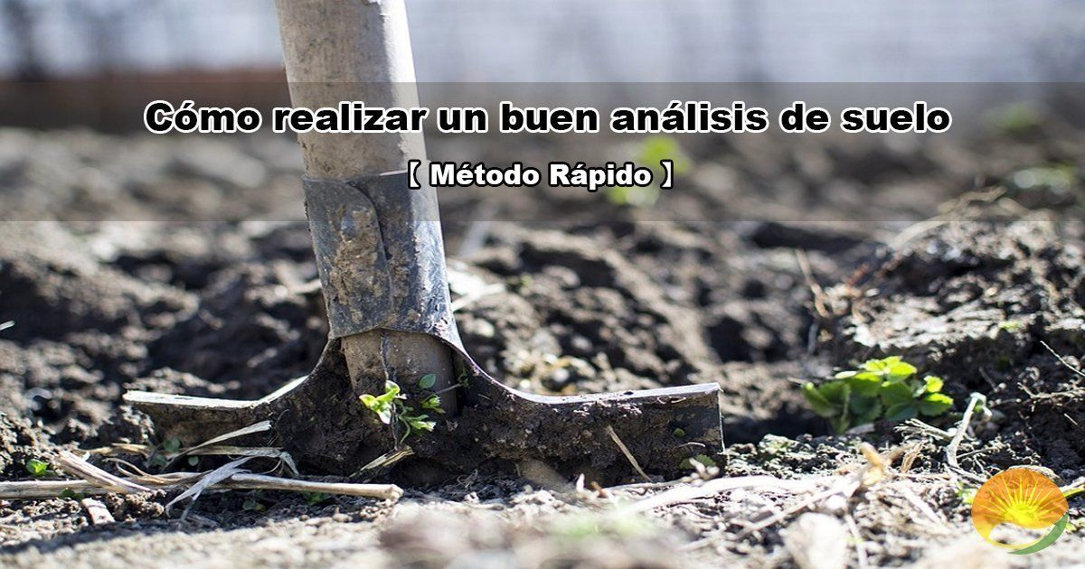 Cómo hacer un buen análisis de suelo