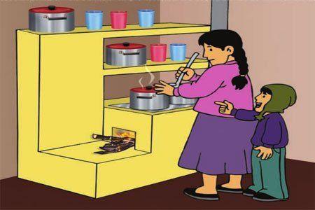 Cocina mejorada. Electrodoméstico eco.