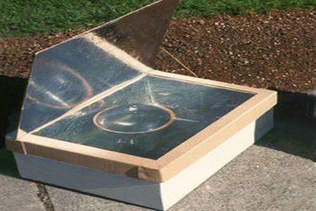 Horno solar con cartón. Electrodomésticos Eco