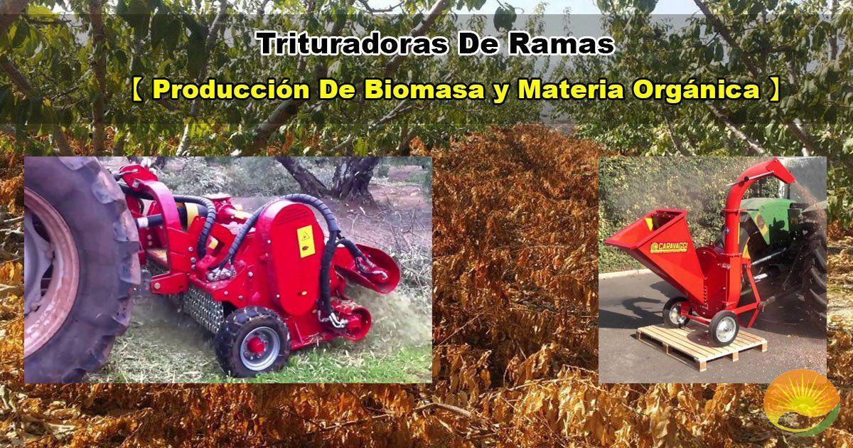 Trituradora de ramas para producir biomasa